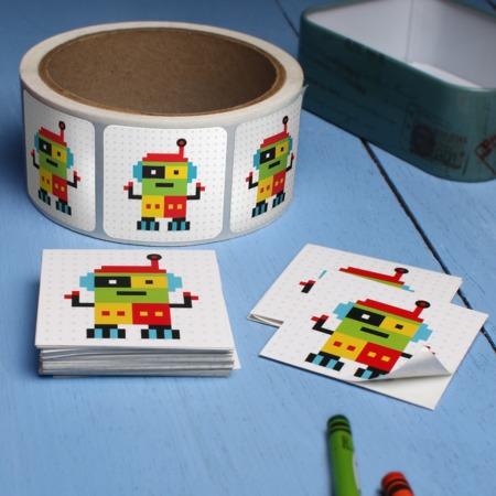 sticker adhesivo cuadrado
