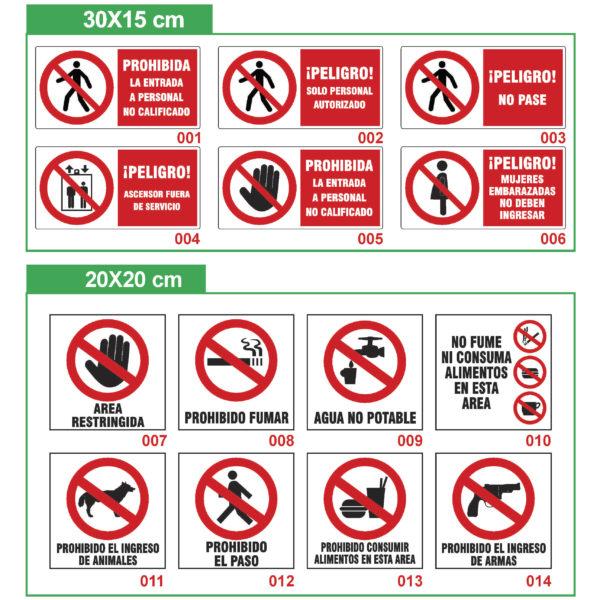 señalización industrial prohibición