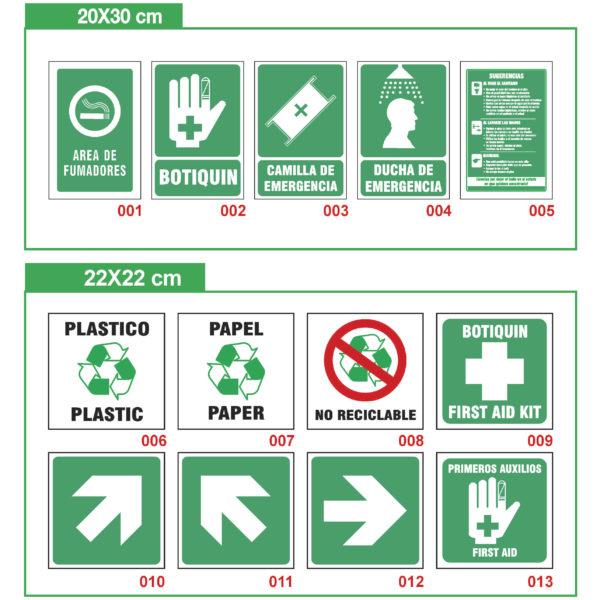 señalización industrial información