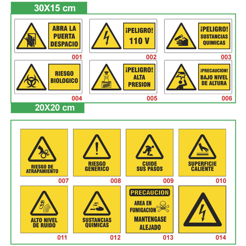 señalización industrial prevención
